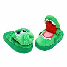 Stompeez Childrens Slippers Green Growling Dragon Size SMALL As Seen On TV NIB