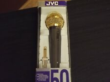 JVC MV50 Dynamic Microphone MIC with 24 Carat gold plated plug  Japan N.O.S
