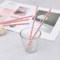 25pcs red drink paper straws striped wedding birthday party supplies decor HF