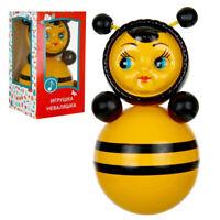 "Tumbler Toy Medium 9 inches//23cm Roly-poly Baby Toy Nevalyashka /""Bee/"" w// Sound"