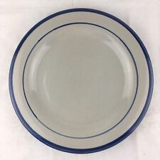 "EUC Louisville Stoneware 11"" Dinner Plate Blue Trim & Thin Blue Band Ky Pottery"