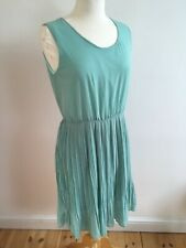 BNWT ABSOLUTELY & FAITH MINT GREEN LINED SLEEVELESS 'PLEATED' DRESS LARGE