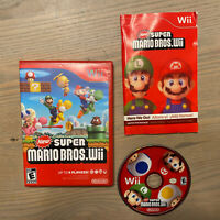 New Super Mario Bros Wii for Nintendo Wii w/ manual - TESTED and WORKING!!