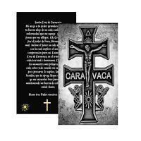 Santa Cruz de Caravaca Poderoso Amuleto Cristiano Tarjeta Laminada