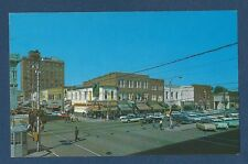 Postcard Walnut and Center Streets, Goldsboro, N.C.