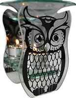 OWL OIL WARMER TEA LIGHT CERAMIC BURNER MELT RELAX PASTELS HOLDER TART CANDLE