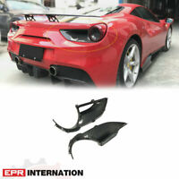 GTB N Type Dry Carbon Rear Tail Light surround (Also fit Spyder) For Ferrari 488