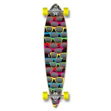 Yocaher Pintail Shades Black Longboard Complete