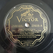 78 rpm RUDY VALLEE YANKEES Victrola record  Victor VE  Fox Trot FALL IN LOVE