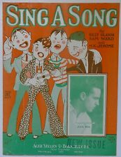 """New ListingZany Cartoon College Guys """"Sing A Song"""" 1927 sheet music M.K. Jerome, Joey Ray"""