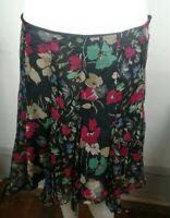 Womens Gorgeous Lauren Ralph Lauren Sz 4 Petite floral skirt Career Casual EUC