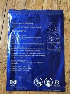 HP.  A3 Photo Paper Storage Bag Resealable.
