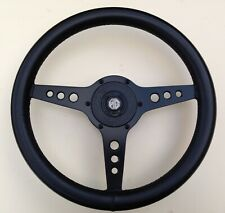 Classic 1980's  Astrali 15inch MGB - GT  3 Spoke Black Leather Steering Wheel