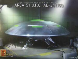 Pegasus 9100 Area 51 UFO AE-341.15B flying saucer plastic model kit 1/72