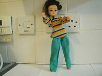VINTAGE 1970's SINDY DOLL BLACK HAIR FLOWER POWER DOLL & OUTFIT 033055X