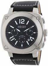 Nautec No Limit Men's Automatic Watch Grizzly GZ AT/LTSTSTBK with Leather Strap