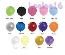 """12 PCS 12"""" HELIUM QUALITY LATEX BALLOONS 14 COLORS PARTY DECORATION"""