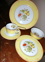 SOMERSET GEORGES BRIARD CHINA 5 PIECE PLACE SETTING DINNER SALAD PLATE BOWL CUP