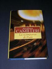Andrea Camilleri, La Scomparsa di Patò, CARTONATO! OTTIMO!
