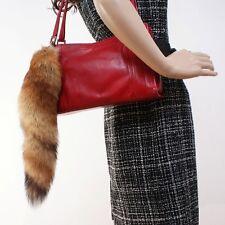 New Womens Real Fox Fur Tail Keychain key Ring Tag Accessory For Bag Handbag
