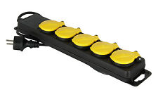 Expert Line 487396 Bloc 5 prises Etanche Ip44 Noir/jaune