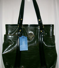 Women Simply Vera by Vera Wang Green Faux Leather Purse Shoulderbag Bag Tote NWT