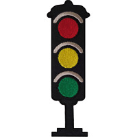 Traffic Light Iron On Patch Sew On Lights Embroidered Badge Embroidery Applique