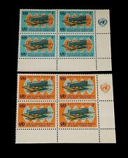 U.N. 1966,NEW YORK #156-157, WORLD HEALTH ORG., MNH, INSC. BLKS/4, NICE! LQQK!