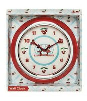Disney Parks Mickey & Minnie Mouse Cherries Retro Keen & Cute Wall Clock NEW