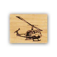 Huey Helicopter mounted rubber stamp, army chopper, UH-1, military CMS #4