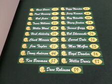 Green Bay Packers Reproduction Locker Room Name Plaques Collection 21 Different