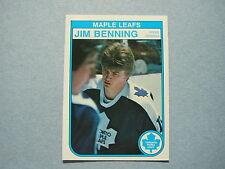 1982/83 O-PEE-CHEE NHL HOCKEY CARD #317 JIM BENNING ROOKIE NM SHARP!! 82/83 OPC