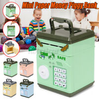 Electronic Piggy Bank Mini ATM Coin Money Saving Box for Children Kid Toys