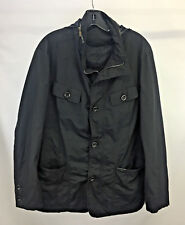 Emporio Armani Homme Mens Jacket Nylon Hoodie Black Size 54 Fits like L or M