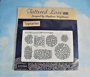 Tattered Lace Topiaries metal dies tree - Used