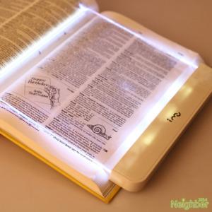 New I-Mu Portable LED Read Panel Light Book Reading Lamp Night Vision For Travel