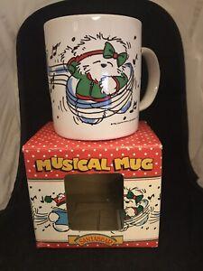 Dayton Hudson Marshall Field's SantaBear Musical Mug NIB