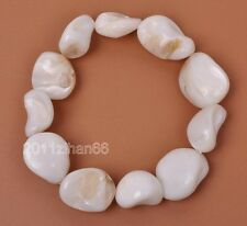 Natural shell charm irregular beads bracelet bead Bangle