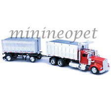 NEW RAY SS-15223 LONG HAUL TRUCKER KENWORTH W900 DOUBLE DUMP TRUCK 1/43 RED