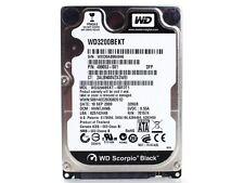 """WD SCORPIPO BLACK HDD HD HARD DISK DISCO RIGIDO SATA 2.5"""" 320GB 320 GB 7200 RPM"""