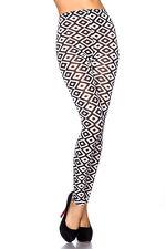Sexy Leggins Leggings Legging Karo Rauten Muster Schwarz Weiß  34 36 38
