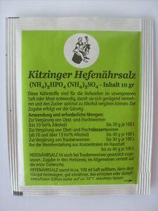 KITZINGER HEFENÄHRSALZ Pulver für die Weinherstellung 10g