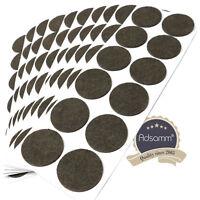 120 x Filzgleiter | Ø 40 mm | Braun | rund | 3.5 mm starke selbstklebende Filz-M
