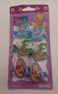 Vintage 1998 Disney Winnie The Pooh & Friends Snap Tight Hair Barrettes by Goody