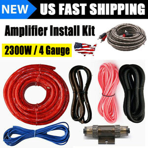 4 Gauge Amp Kit Amplifier Install Wiring 2300W Power Wire Complete Connection US