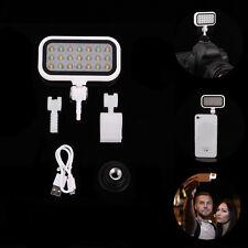 Adjustable 21 LED Lamp Video Fill-in Light Selfie For DSLR Camera DV Smart Phone