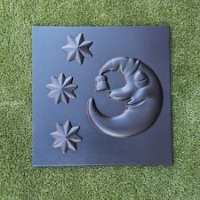 *NIGHT MOON* Set Moulds 3D Decorative Wall Stone Panels Plastic Form for Plaster