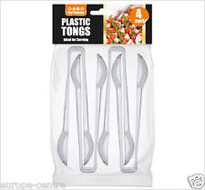 Four Seasons Plastic Tongs Clear Pack of 4 2671