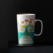 2015 Starbucks Christmas Dot Collection - Gold Ferris Wheel Coffee Tea Mug 16oz