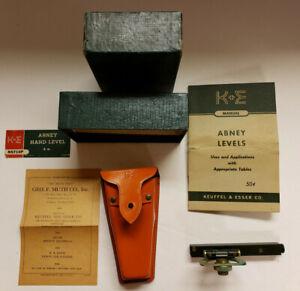 "Keuffel and Esser Topogrpahic Abney Hand Level, 5"", Vintage, 1950s,   (Sc103)"